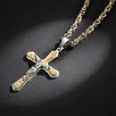 collier  pendentif croix de Jsus simple NHKN315000