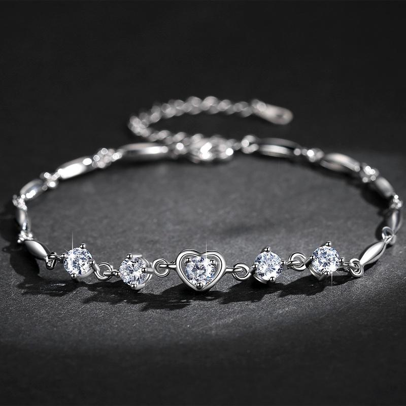 bracelet zircon en forme de coeur NHKN315008