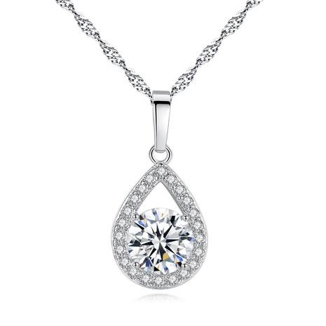 nouveau collier zircon ange larmes NHKN315009's discount tags