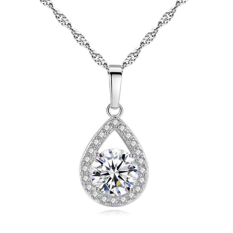 nouveau collier zircon ange larmes NHKN315009