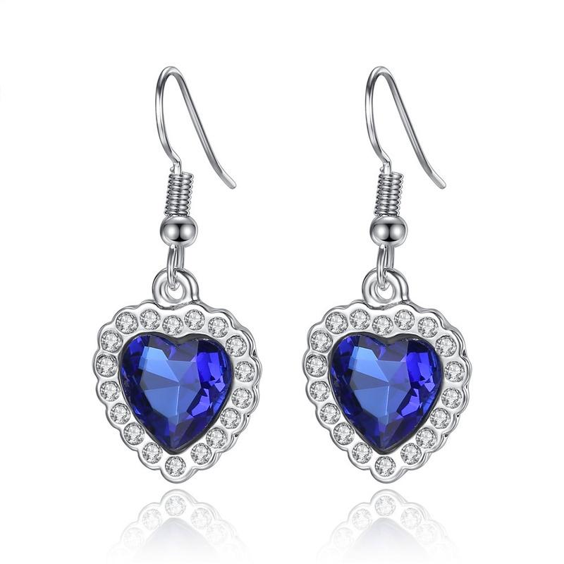 ocean heart crystal earrings  NHKN315021