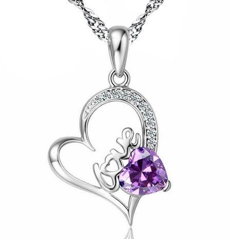 collier en forme de coeur en cuivre NHKN315022's discount tags