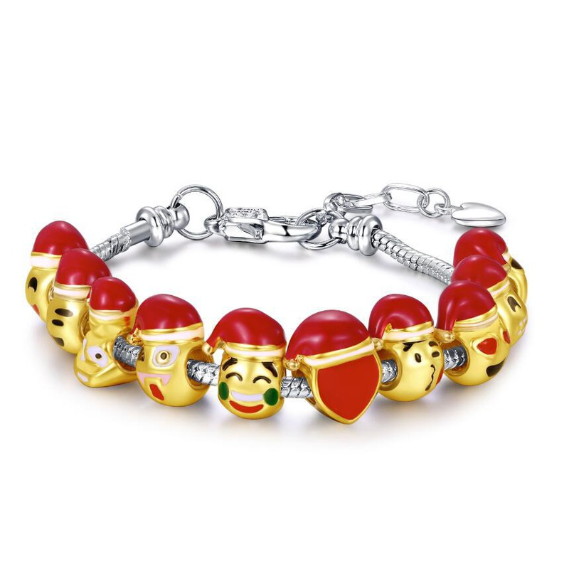 Bracelet Emoji Cartoon dor NHKN315026