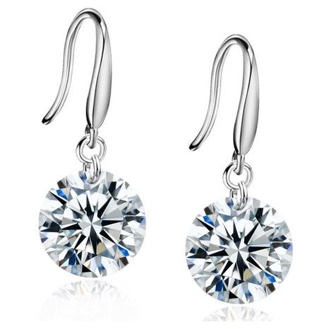 simple new copper zircon earrings  NHKN315034's discount tags