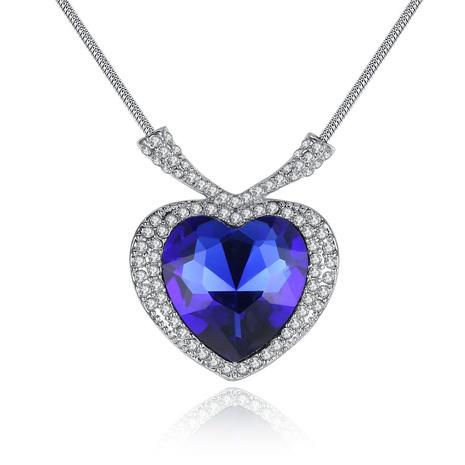einfache Herzanhänger Halskette NHKN315040's discount tags