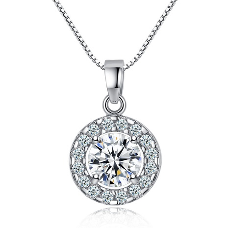 fashion copper zircon retro disc pendant necklace NHKN315042's discount tags