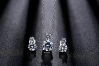Fashion Love Pendant Double Zircon 8 Infinity copper Necklace NHKN315049