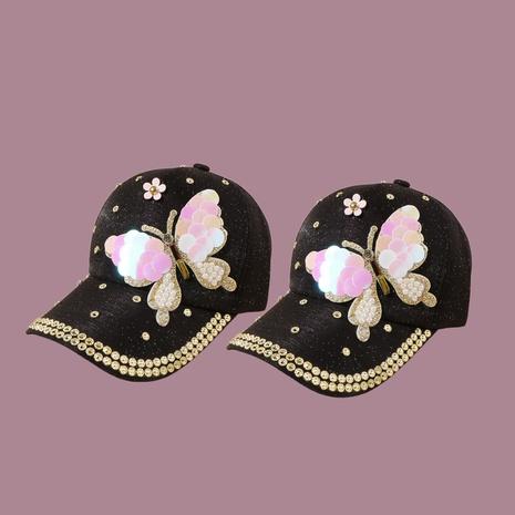Gorra de béisbol de mariposa con lentejuelas de moda coreana NHTQ314633's discount tags