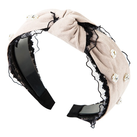 neues einfarbiges Diamant-Stirnband aus Goldsamt NHJE315062's discount tags