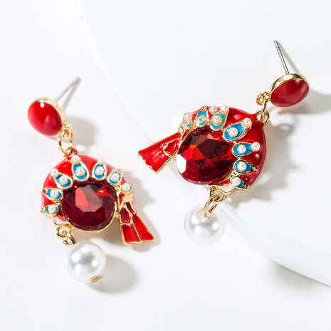 Boucles d'oreilles en diamant en alliage créatif coréen NHJE315063's discount tags