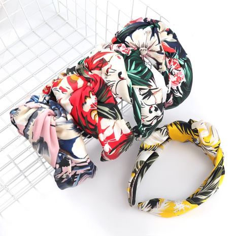 new flower printed korean headband  NHJE315068's discount tags