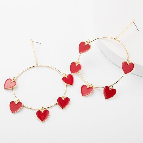 nouvelles boucles d'oreilles d'amour créatives en alliage de diamants sertis d'oeil du diable NHJE315075's discount tags