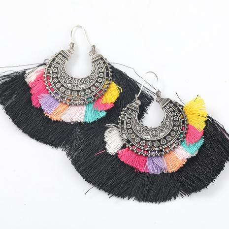 fashion inlaid pearl shell flower tassel earrings NHJE315074's discount tags