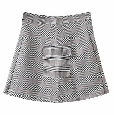 asymmetrical pleated high waist short skirt   NHAM315078's discount tags