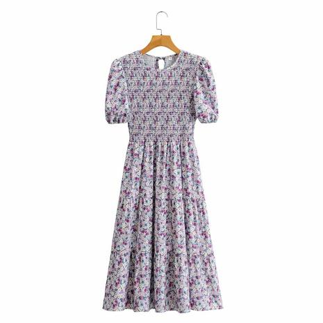 vestido retro con cuello redondo y manga abullonada NHAM315079's discount tags