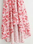 falda con estampado floral vestido con pajarita en V NHAM315083