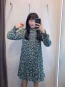 vestido corto de manga larga estampado NHAM315095