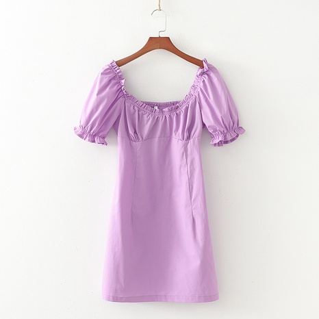 vestido retro plisado con manga farol NHAM315099's discount tags