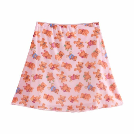 cute bear print double mini skirt   NHAM315102's discount tags