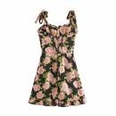 vestido retro con tirantes pequeos y cuello cuadrado NHAM315103