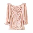 vestido con cordn y manga farol de un hombro NHAM315110