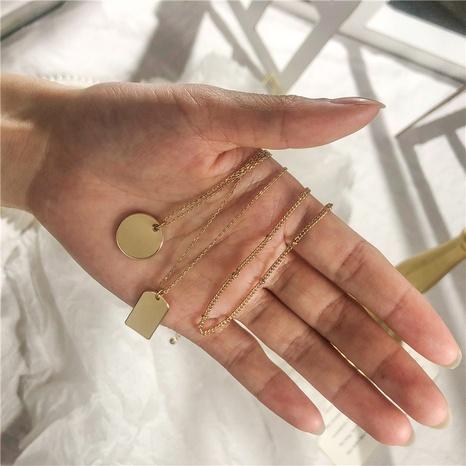 pendentif rectangulaire collier détachable 3 couches NHZU315134's discount tags