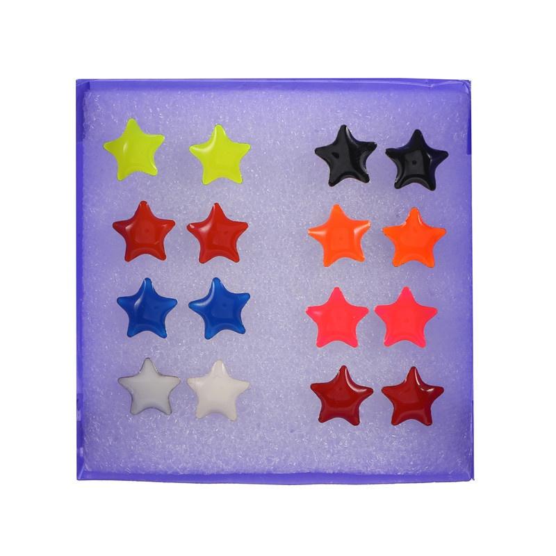 Korean fashion resin earrings 8 pairs  NHZU315137