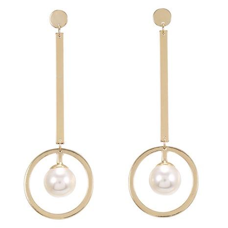 Boucles d'oreilles perles géométriques simples coréennes NHZU315148's discount tags