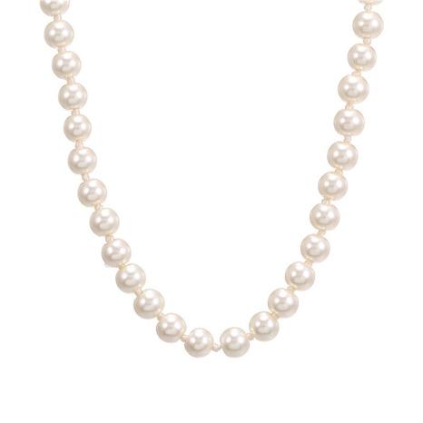 collier simple de perles de mode NHZU315151's discount tags