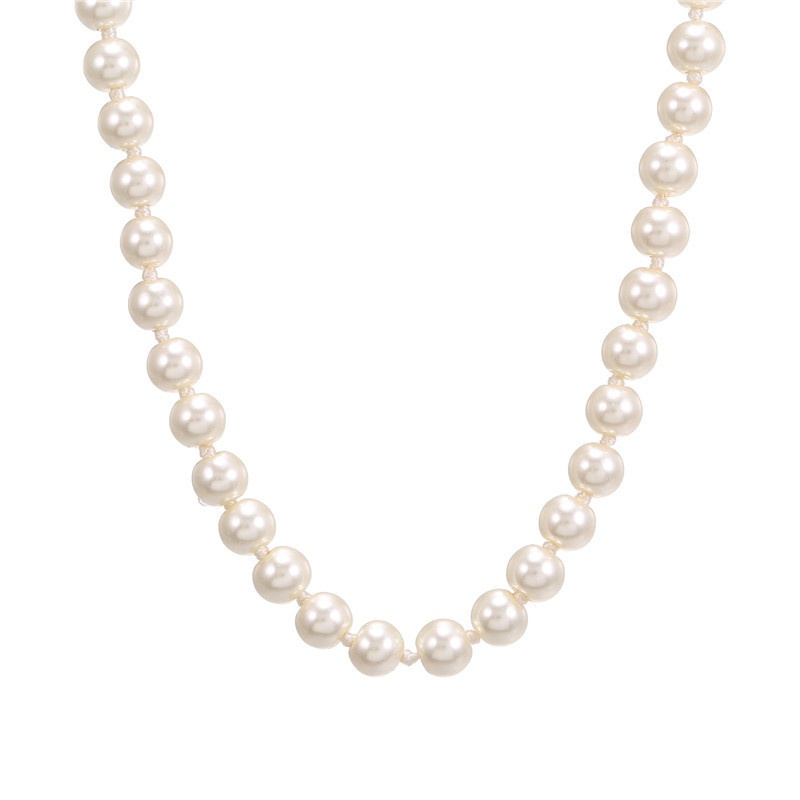 fashion pearl simple necklace NHZU315151