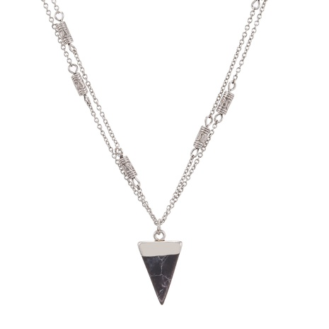 fashion crystal triangle pendant necklace  NHZU315154's discount tags