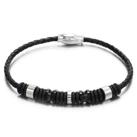 stainless steel braided magnetic buckle bracelet  NHZU315174's discount tags
