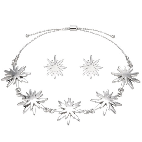 Ensemble de boucles d'oreilles bracelet fleur de soleil NHZU315180's discount tags