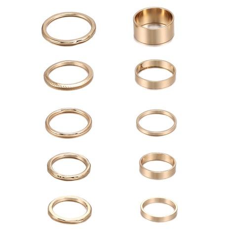 ensemble de bagues torsadées dorées NHZU315188's discount tags