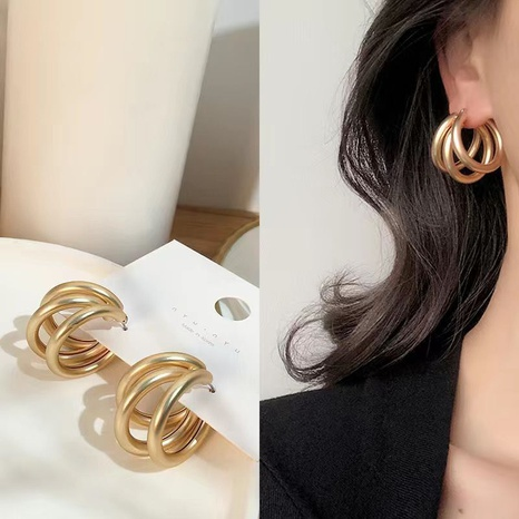 frosted multilayer earrings NHZU315191's discount tags