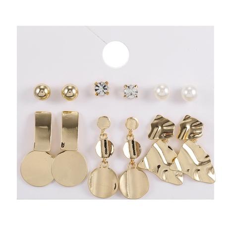 creative metal disc irregular earrings 6-piece set NHZU315190's discount tags