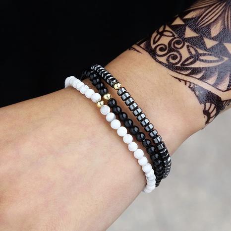ensemble bracelet homme pin blanc noir NHZU315197's discount tags