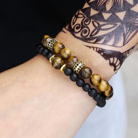 micro-inlaid spacer men's fashion bracelet  NHZU315200's discount tags