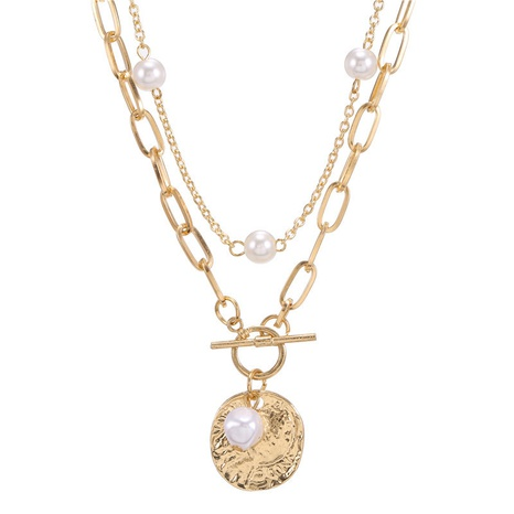 kreative Retro Doppelschicht Perlenkette NHZU315202's discount tags