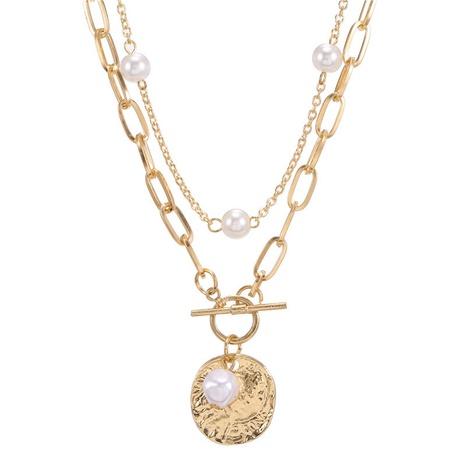 collier de perles rétro créatif à double épaisseur NHZU315202's discount tags