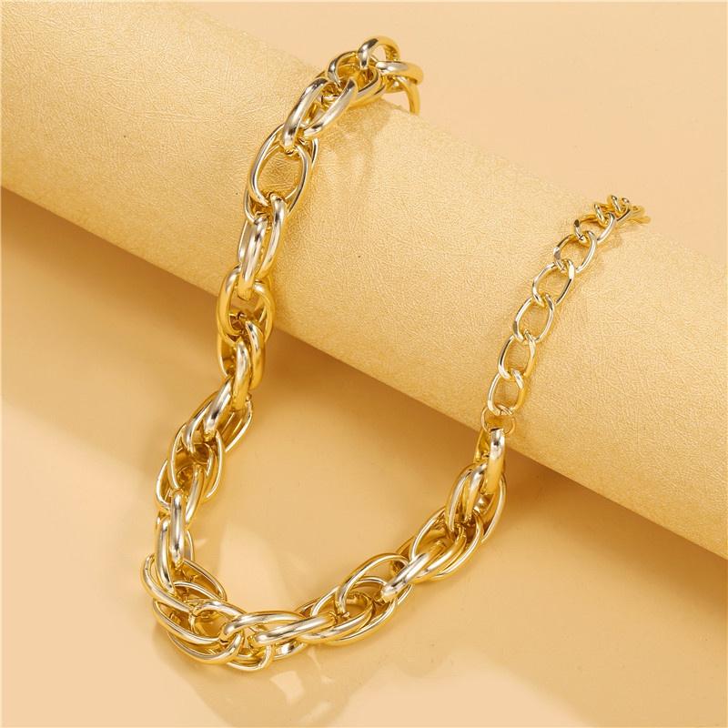 retro simple thick necklace NHZU315227