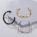 Bracelet ouvert en forme de C en acier inoxydable NHZU315248