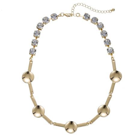 collier géométrique all-match serti de diamants NHZU315253's discount tags
