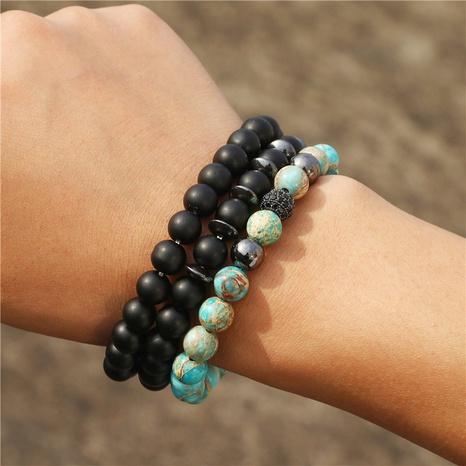 bracelet en pierre impériale givrée noire NHZU315258's discount tags