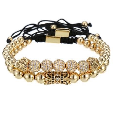 Bracelet à billes de diamants micro-incrustés de perles de cuivre à la mode NHZU315260's discount tags