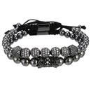Bracelet  billes de diamants microincrusts de perles de cuivre  la mode NHZU315260