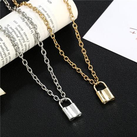 collier pendentif serrure style punk rétro NHZU315267's discount tags
