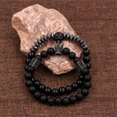 Bracelet tte de mort en pierre givre noire NHZU315273