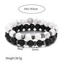 Ensemble de nouveaux bracelets pour hommes en perles blanches et noires NHZU315277