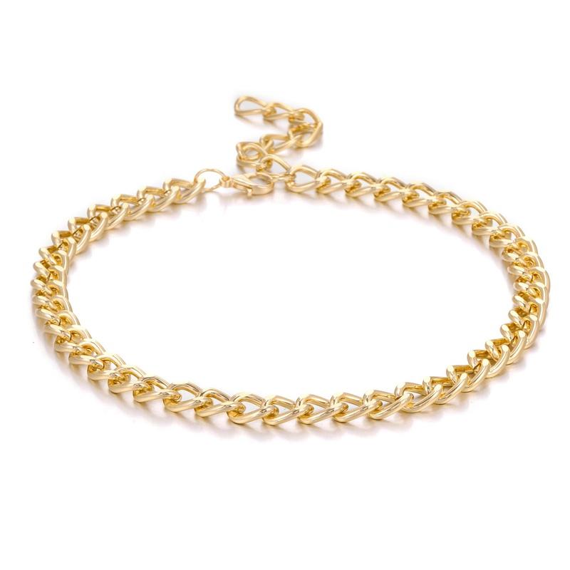 fashion punk style metal simple necklace NHZU315279